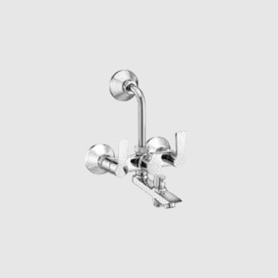Wall mixer 3-in-1 with provision for tele shower & overhead shower with bend pipe