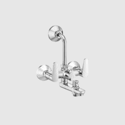 Wall mixer 3-in-1 with provision for tele showerd & overhead shower with bend pipe