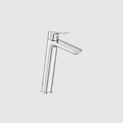 Single lever basin mixer extended