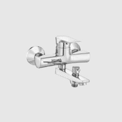 Single lever basin mixer with telephonic shower arrangement